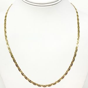6f1823898834a 10k Gold Thin Gucci Anchor Link Chain Necklace 21
